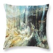 Fantasy Storm Throw Pillow by Linda Sannuti