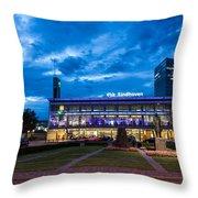 Fantasy Train Station Throw Pillow