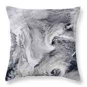 Far Eastern Russia Covered In Snow Throw Pillow