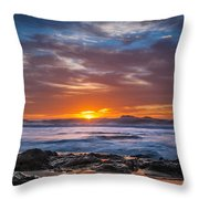 Farewell To Autumn Sun Throw Pillow