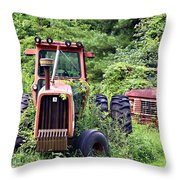 Farm Equipment Throw Pillow