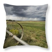 Farm Irrigation Sprinklers Next Throw Pillow