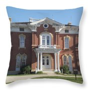 Farm Mansion Throw Pillow