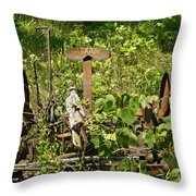 Farm Mower 1 Throw Pillow