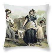 Farm Scene, C1870 Throw Pillow