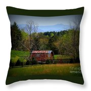 Farm With A View Throw Pillow by Crystal Joy Photography