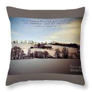Farmer's Christmas Throw Pillow
