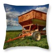 Farmer's Grain Wagon Throw Pillow