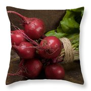 Farmer's Market Beets Throw Pillow