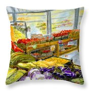 Farmer's Market In Fort Worth Texas Throw Pillow