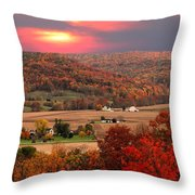 Farmers Of Paint Valley Throw Pillow