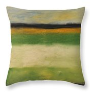 Farmfield By Highway 29 Throw Pillow