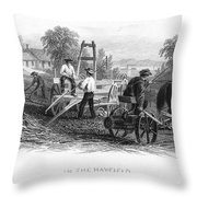 Farming, C1870 Throw Pillow
