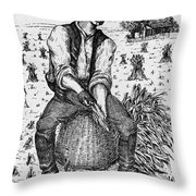 Farming: Corn Husker Throw Pillow