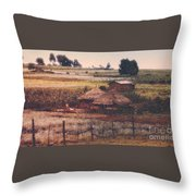Farming In The Rift Valley Throw Pillow