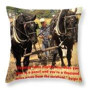 Farming Looks Easy Throw Pillow by Ian  MacDonald