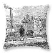 Farming: Threshing, 1851 Throw Pillow