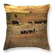 Farming To Beat The Storm Throw Pillow