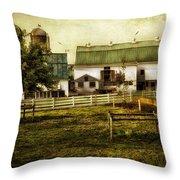 Farmland In Intercourse - Pennsylvania Throw Pillow