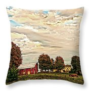 Farms From The Fifties Throw Pillow