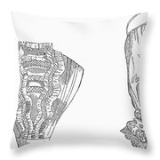 Fashion: Chemisette, 1854 Throw Pillow