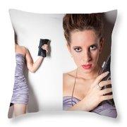 Fashion Collage Throw Pillow