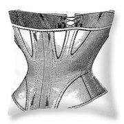 Fashion: Corset, 1869 Throw Pillow