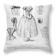 Fashion: Corset, C1850 Throw Pillow