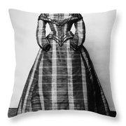 Fashion: Dress, C1865 Throw Pillow