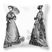 Fashion: Women, 1868 Throw Pillow