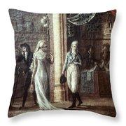 Fashionable Parisians, 1799 Throw Pillow