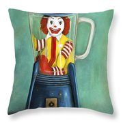 Fast Food Nightmare 2 The Happy Meal Throw Pillow