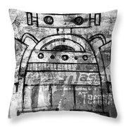 Fat-bot Throw Pillow