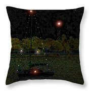 Fat Moon Bay Throw Pillow by David Lee Thompson