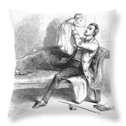 Father And Baby Throw Pillow