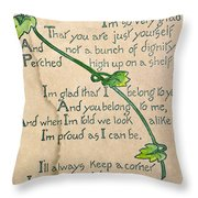 Fathers Day Card, 1912 Throw Pillow