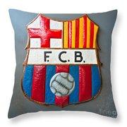 Fc Barcelona Symbol Throw Pillow
