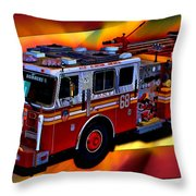 Fdny Engine 68 Throw Pillow