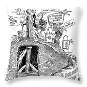 F.d.r. Cartoon, 1930s Throw Pillow