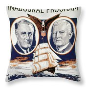 Fdr: Inauguration, 1933 Throw Pillow