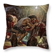Feast On Fools Throw Pillow