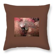 Feather Blenny Female Throw Pillow
