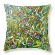 Feather Luster Throw Pillow