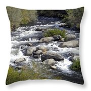 Feather River White Water Throw Pillow