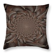 Feathers In Bloom Throw Pillow