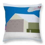 February Barn Throw Pillow