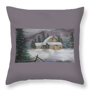 February Snowstorm Throw Pillow