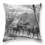 Federal Camp Contraband, 19th Century Throw Pillow