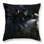 Federal Cavalry Throw Pillow