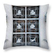 Federal Trade Commission Art Deco Door Throw Pillow by Clarence Holmes